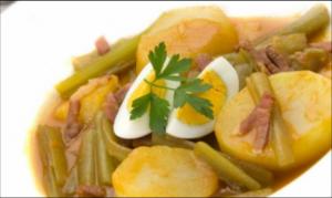 Guiso de borraja con patatas